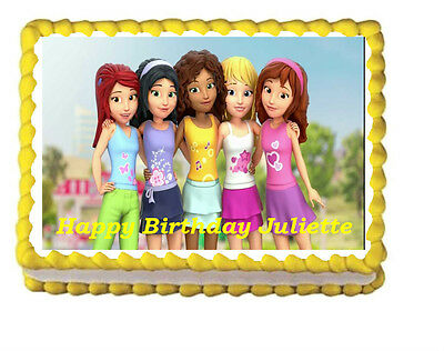 Outstanding Lego Friends Birthday Party Icing Edible Cake Topper 1 4 Sheet Ebay Personalised Birthday Cards Paralily Jamesorg
