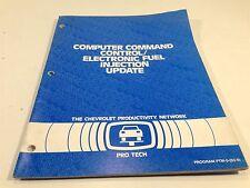 1983 Chevrolet Pro Tech Computer Command Control Service Manual Blue Book Update