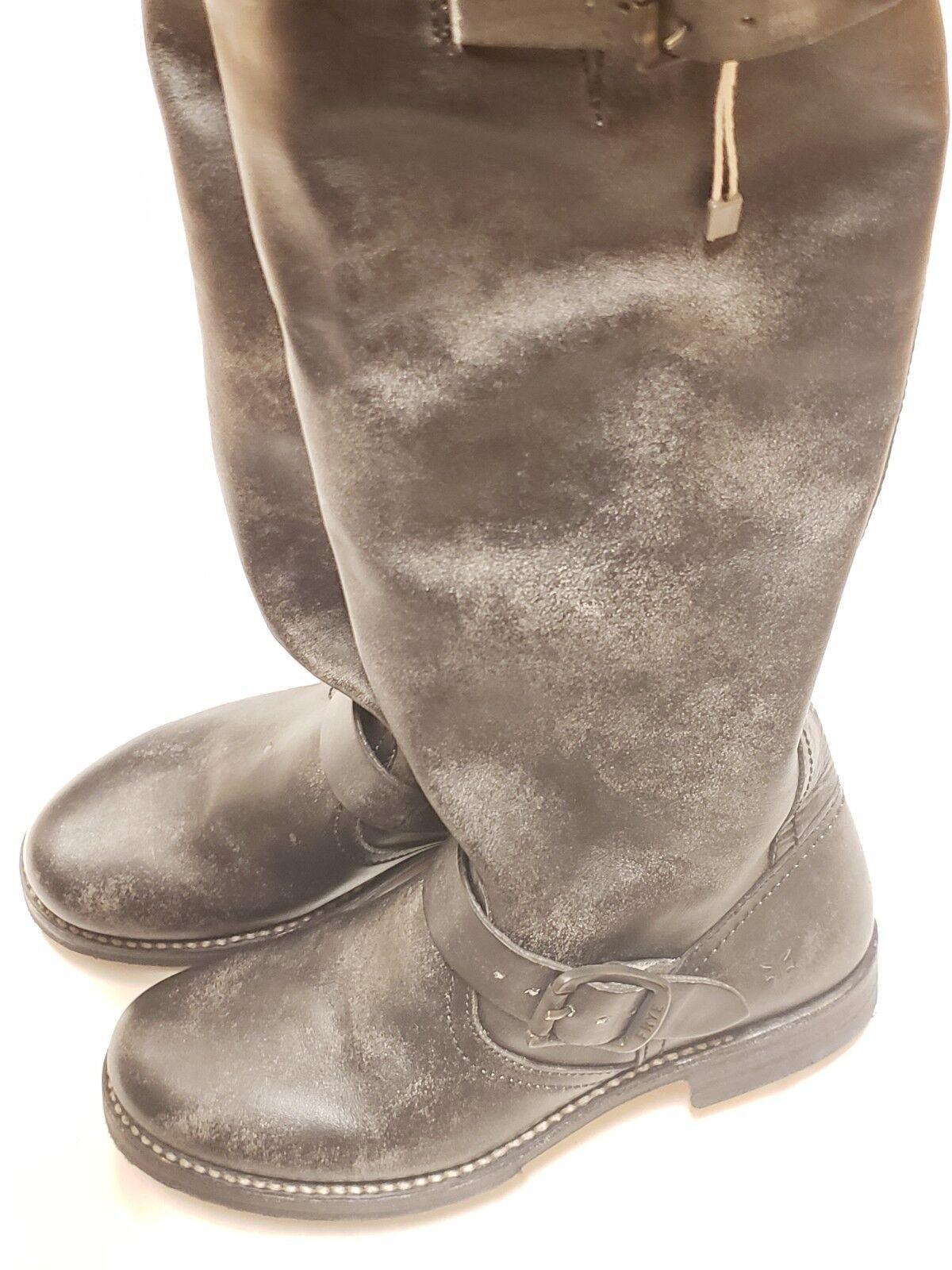 Frye botas De Cuero Negro para EE. Mujer Talla 6 EE. para UU. envejecido 684fe8