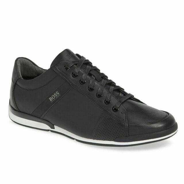 Hugo Boss BOSS Mens Saturn Leather Sneaker by BOSS Green