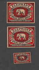 Ancienne   étiquette   allumettes  Suède  DS60 Eléphant