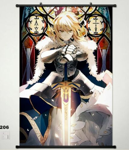 Fate//stay Night Fate Zero Saber Home Decor Anime Japanese Poster Wall Scroll 206