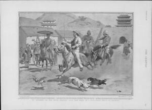 1901-Antique-Print-CHINA-Nanking-Jack-Jolly-Pigs-Chickens-Horses-Liberty-247