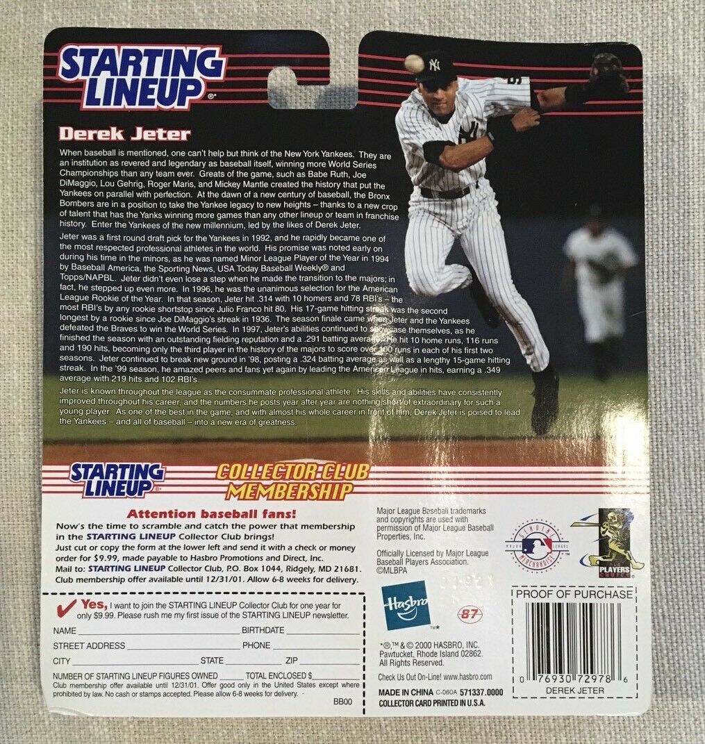 2000 Derek Jeter Jeter Jeter All Star Starting Lineup Limited New Jersey Convention Edition e28873