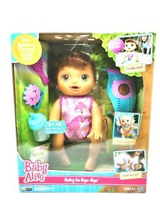 Baby Doll NEW Crawls Talks Best Toy for Girls Baby Alive Go Bye-Bye Black Hair