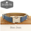 Designer-Blue-Jean-Dog-Puppy-Pet-Collar-with-Leash-Option-All-Breeds-Sizes thumbnail 1