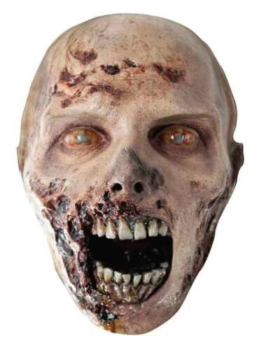 The Walking Dead Official Eroded Zombie Single Card Face Mask Scary Party Fun!