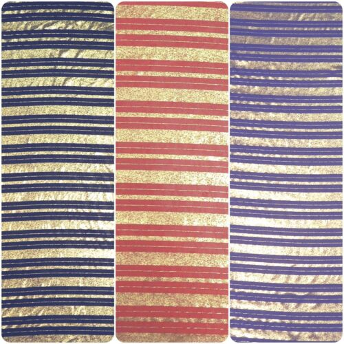 Doble Stripe Foil Pattern on Non-Stretch See Through Polyester Chiffon Fabric