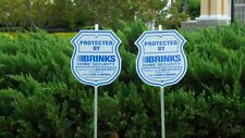 2 SIGN + 8 PACK BRINKS SECURITY HOME ALARM SIGN ADT 'L REFLECTIVE DECAL STICKERS