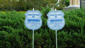 2-SIGN-8-PACK-BRINKS-SECURITY-HOME-ALARM-SIGN-ADT-L-REFLECTIVE-DECAL-STICKERS