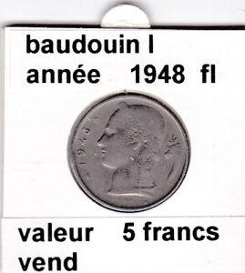 FB-2-pieces-de-5-francs-de-baudouin-I-1948-belgie