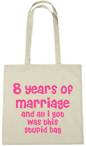Regalo Per Anniversario Di Matrimonio 8 Anni.8 Anni Di Matrimonio Borsa 8th Anniversario Di Matrimonio Regalo