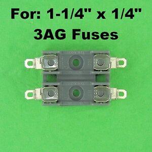 Littlefuse-Double-Fuse-Holder-Block-For-3AG-Fuses-12-Volt-30A-120V-AC-Dual-Fuse