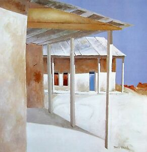 James-Harrill-034-Chimayo-Porch-034-poster-23-25-034-h-x-23-25-034-image-034-signed-unsigned