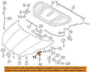 811403W000 Hood Safety Catch Lock Latch OEM For 2011-2016 Kia Sportage