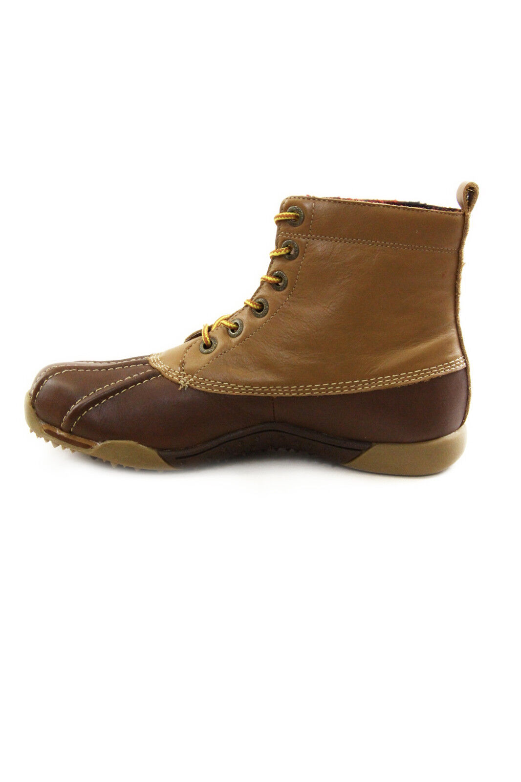 Woolrich Leather Mid Duck Boots mod. WSCAL0097 Brown