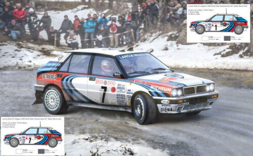 Lancia Delta HF Integrale Monte Carlo 1990 Version #1 Or #7 Plastic Kit 1:24