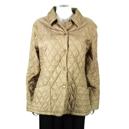 Barbour - Tan - Quilted Puffer Jacket - Women's -
