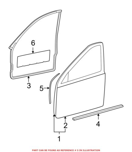 For Mercedes Genuine Door Seal Right 2037201678