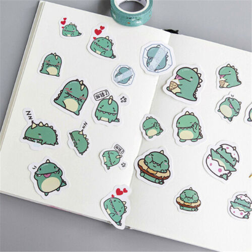 Cute Green Dragon Stickers Diy Diary Scrapbook Decoration PVC Stationery DSUK