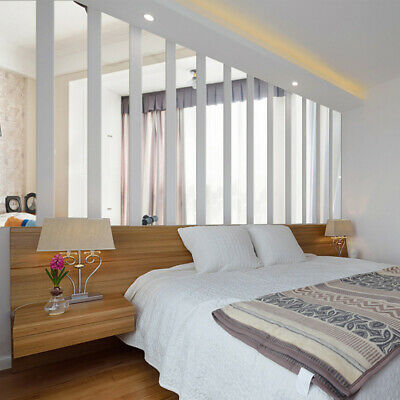 10pcs Acrylic Mirror Wall Stickers Decal Long Rectangle Room Wall Sticker Decor Ebay