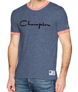 3b690c375b Champion Mens Heritage Ringer Flocked Script Logo Tee shirt size XL ...