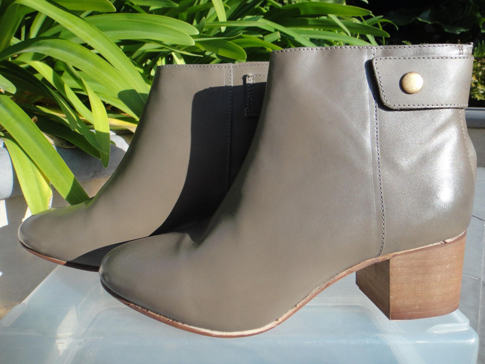 Topshop BONNET Bootie, Ankle Boot, Back Toe, Zip & Snap, Almond Toe, Back EUR 37 or 38 a4127d