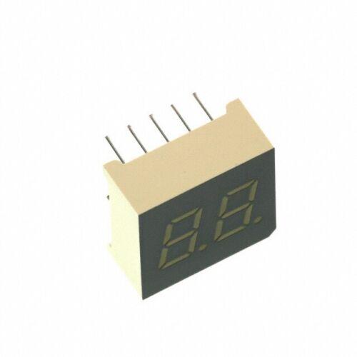1 pc DA04-11GWA 7-Segment 2-Digit alphanumerisch 3,6-8mcd 10mm CA grün #BP