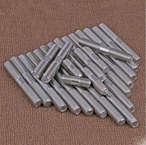 304 Stainless steel M3 *50-200 double ended Stud Screws threaded Bolt Thread Rod