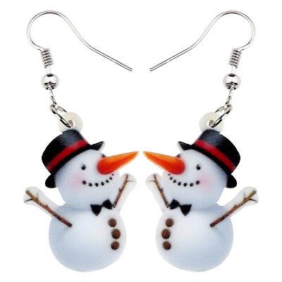 Acrylic Christmas Hy Snowman Earrings Dangle Jewelry For Women Gift Accessory Ebay