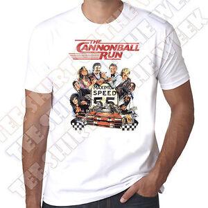 e5c24d0aef6 The Cannonball Run 80 s retro Burt Reynolds Mens 100% cotton T-shirt ...