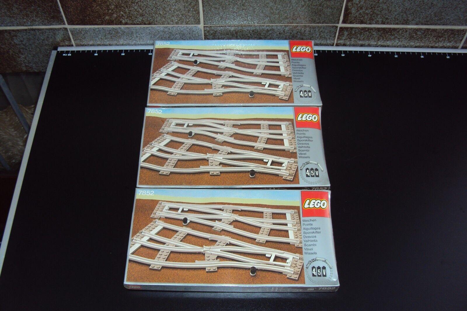 2 x LEGO 7852 Weichen Grau graue Weichen 4,5Volt NEU OVP Verschweisst