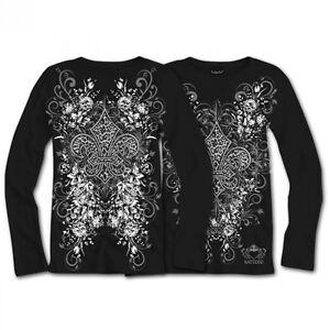 Women-039-s-Katydid-Leopard-Rhinestone-Fleur-De-Lis-Long-Sleeve-Shirt-S-M-L-XL-2X-3X