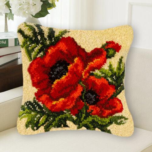 , Knüpfkissen für Kinder und Erwachsene zum Selber Knüpfen Kissen Blumen