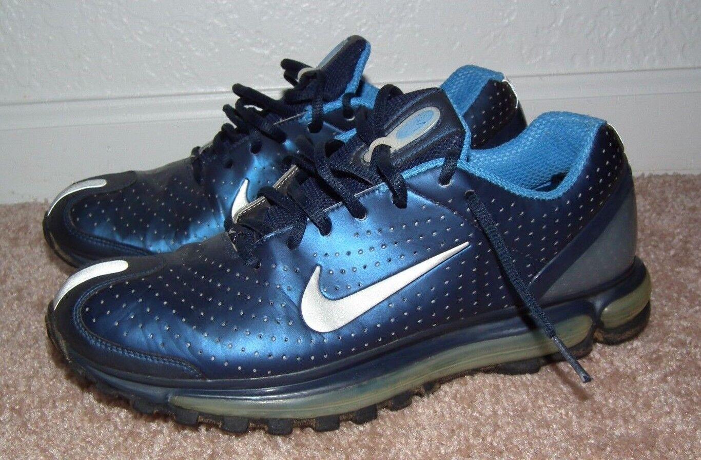 Nike air max 2003 obsidian og mens größe 9 obsidian 2003 / chrome / hafen blau (306578-401) 329ae7