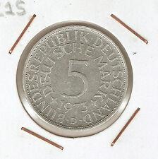 ALEMANIA (GERMANY) 5 MARK 1973 D (silver)