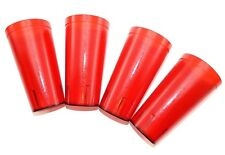 (4) - RED Plastic Cups 20 oz Restaurant Style Tumbler Glass Stackable by SYSCO