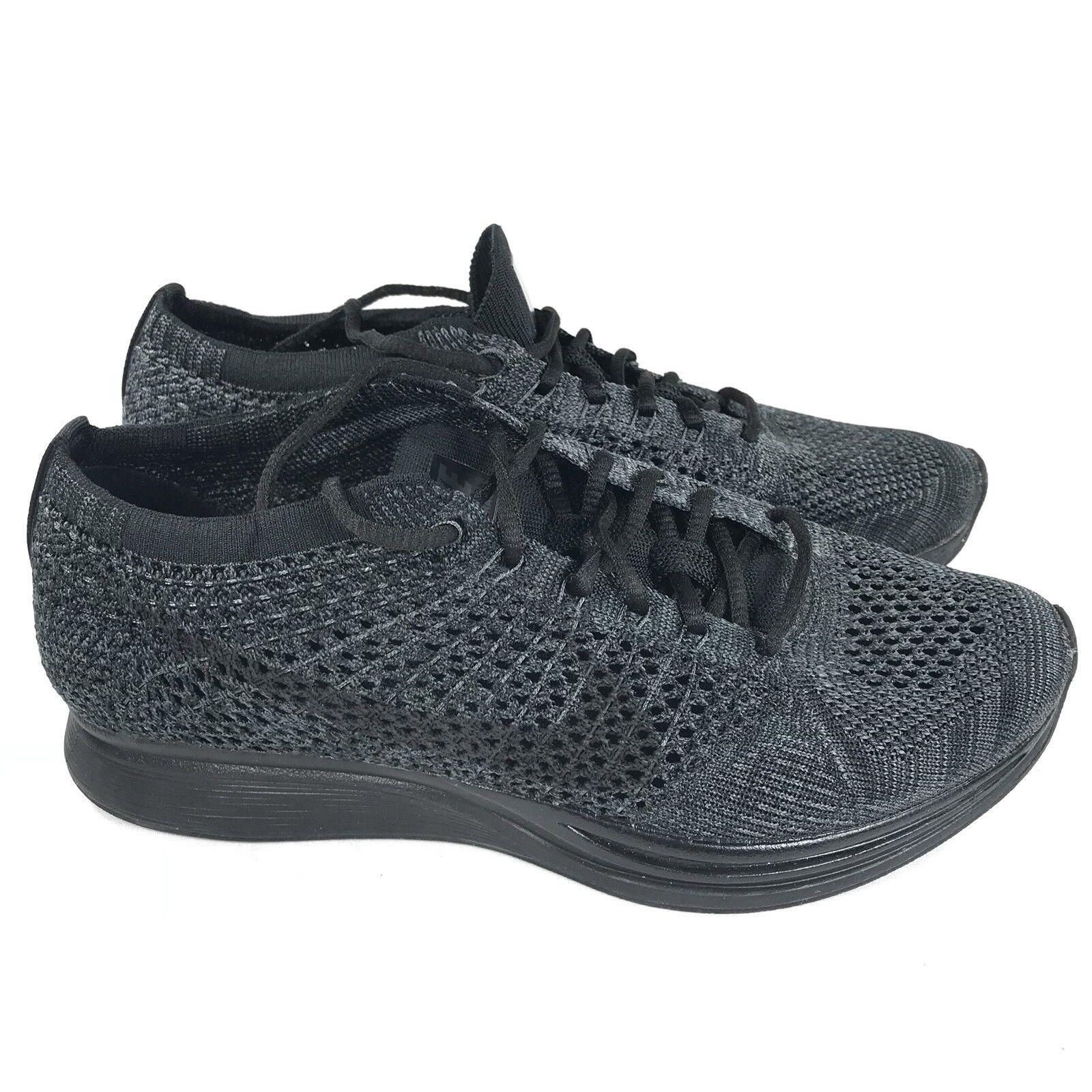 Nike Flyknit Racer Triple Black Anthracite 526628-009 Men's Size 6.5 Wmns 8