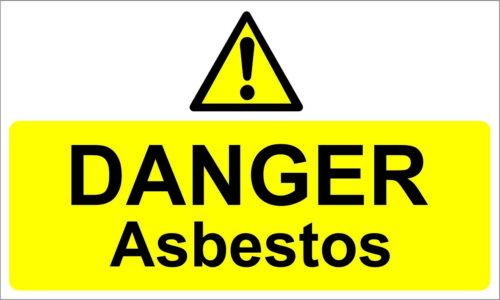 Signos de advertencia de peligro amianto selfadh. signos (juego de 3). signos Pegatinas// Impermeable