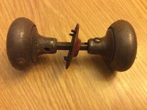Antique 19th Century Metal Passage Doorknobs Set