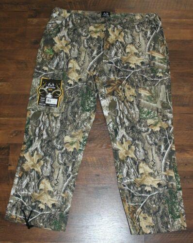 NEW Mens Cargo Pants REALTREE EDGE Camo Sz M XL XXL XXXL Hunting Bottoms