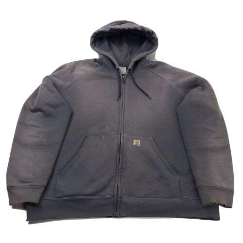 Carhartt Womens XL Zip Up Hooded Sweatshirt Jacket