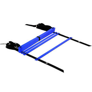 Yes4All-Speed-Agility-Ladder-with-Carry-Bag-Adjustable-8-Rung-Blue