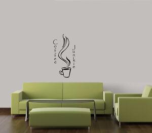 COFFEE-JUNKIE-VINYL-ART-LETTERING-WORDS-DECALS-HOME-WALL-DECOR-KITCHEN