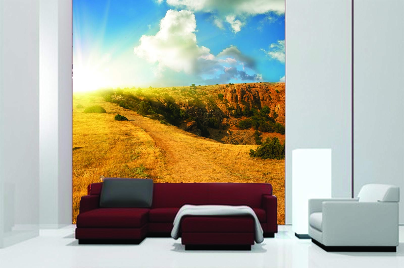 3D 3D 3D Sky Golden Field 8 Wallpaper Mural Paper Wall Print Wallpaper Murals UK Lemon 1ca92c