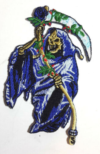 """Grim Reaper Cut 4/"""" Embroidered Patch USA Mailed ANPA-GrimReaper"""