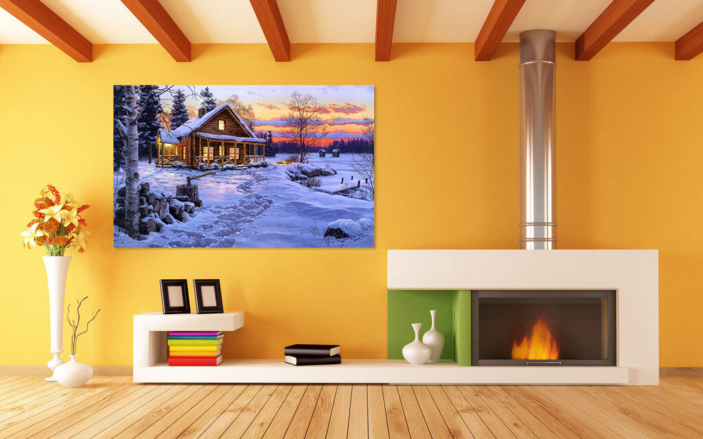 3D Schnee Haus 523 Fototapeten Wandbild BildTapete AJSTORE DE Lemon