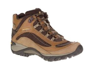 f65a25c021 Details about Merrell New Women's Siren Mid Waterproof Leather Hiking Boot  Brown