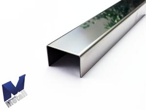 Edelstahl U-Profil700mm axcxb 40x 57 x40mm Abdeckprofil 1.4301 3D spiegeloptik. - Leun, Deutschland - Edelstahl U-Profil700mm axcxb 40x 57 x40mm Abdeckprofil 1.4301 3D spiegeloptik. - Leun, Deutschland
