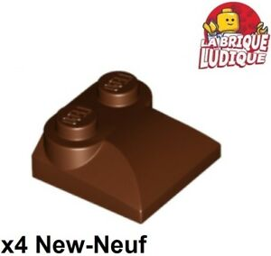 Lego-4x-Brique-Brick-Modified-2x3x2-3-curved-s-marron-reddish-brown-47457-NEUF